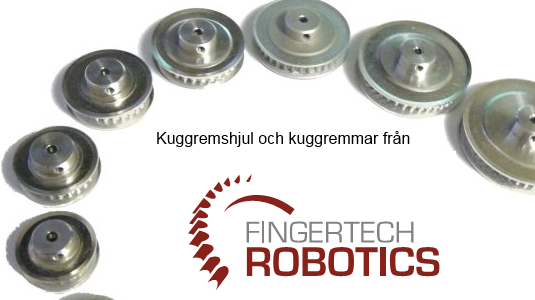 Belts and pulleys from Fingertech Robotics